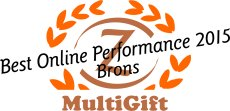 MultiGift remporte le bronze Best online performance Award 2015