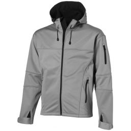 Match softshell jack grijs 33306