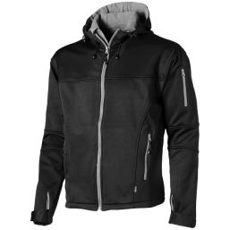 Match softshell jack zwart 33306